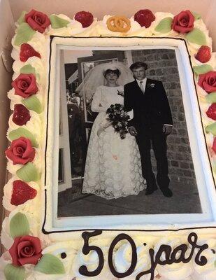 Bruidstaart gouden huwelijk