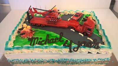 Amerikaanse taart Brandweer